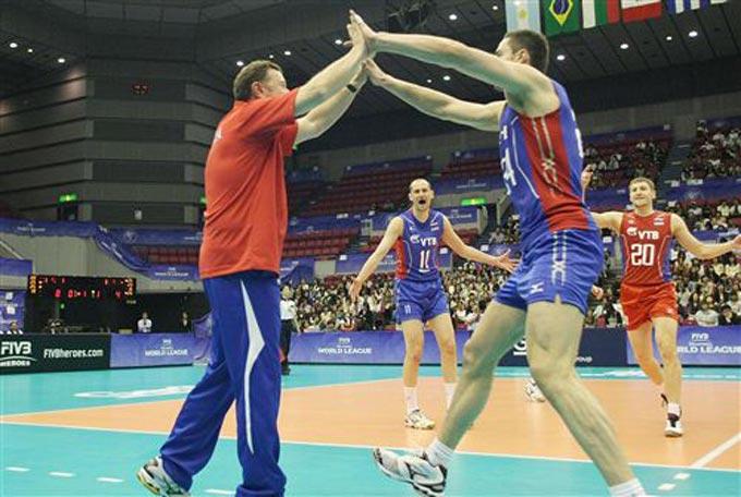 Сборная России переиграла Японию со счётом 3:2
