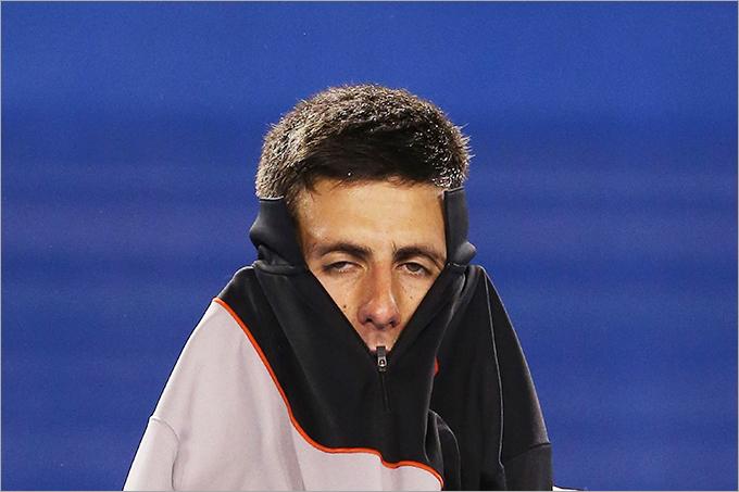Четвертьфинал. Станислас Вавринка (Швейцария, 8) — Новак Джокович (Сербия, 2) — 2:6, 6:4, 6:2, 3:6, 9:7
