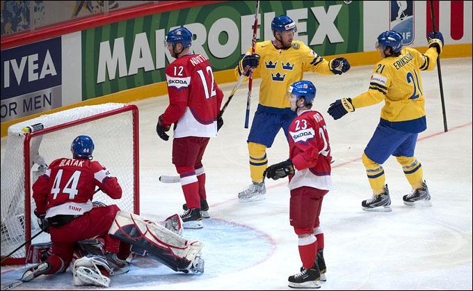 5 мая 2012 года. Стокгольм. Чемпионат мира. Групповой турнир. Швеция — Чехия — 4:1