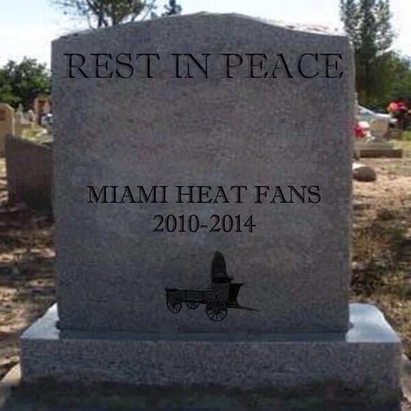 Покойтесь с миром болельщики «Майами»…