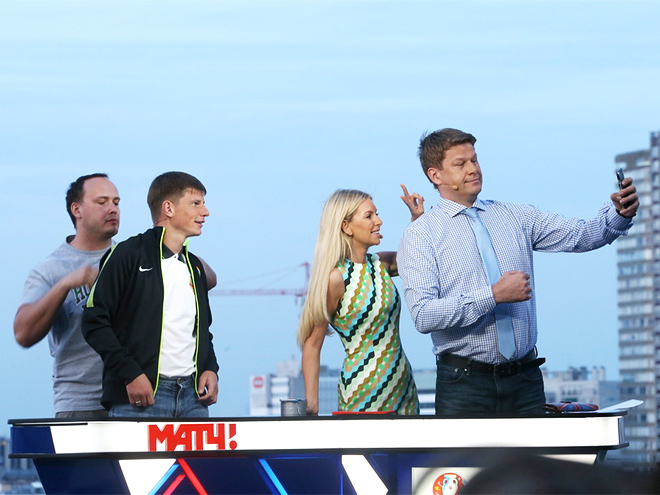 Андрей Аршавин, Мария Орзул и Дмитрий Губерниев