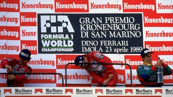 Подиум после скандального Гран-при Сан-Марино 1989-го