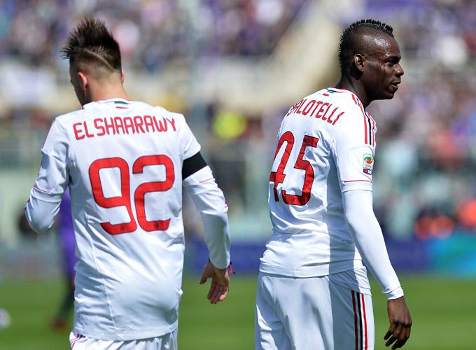 "Серия А. 31-й тур. ""Фиорентина"" — ""Милан"" — 2:2. Эль-Шаарави и Балоттелли."