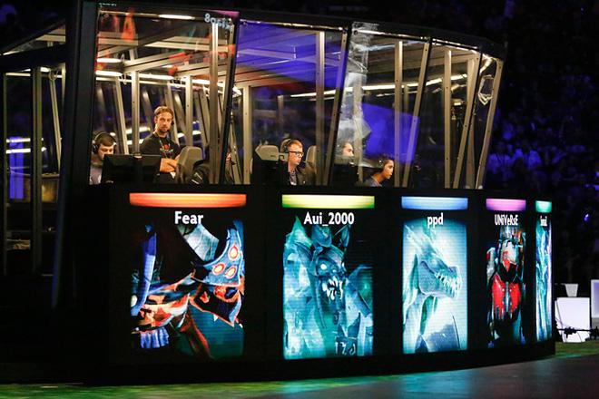 Игровые кабинки во время The International 2015