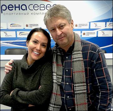 """Мария Ларионова и экс-главный тренер """"Сокола"""" Душан Грегор"""