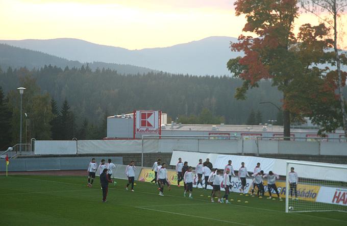 Тренировка молодёжной сборной России
