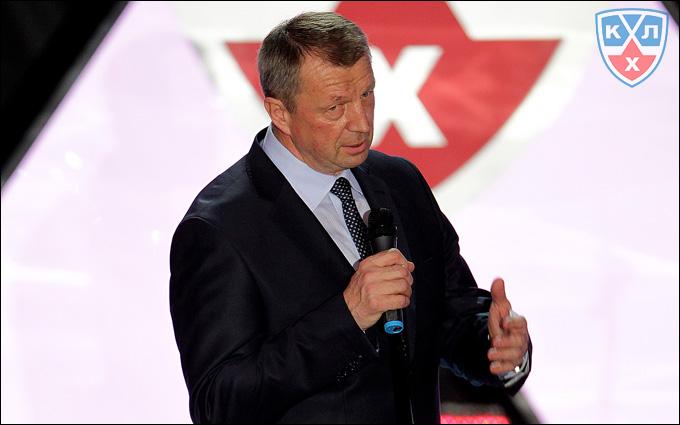 Сергей Гимаев на закрытии сезона КХЛ