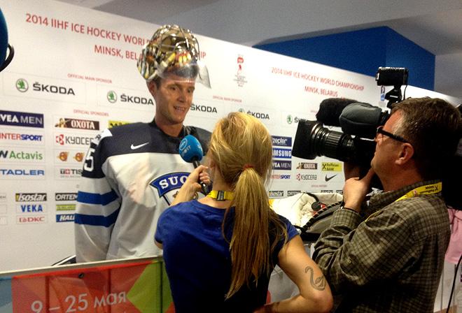 Пекка Ринне после матча США — Финляндия