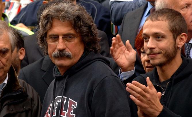 Валентино Росси и отец Марко Симончелли