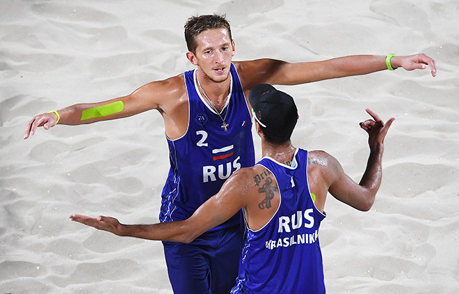 Русские волейболисты-пляжники обошли всех соперников вгруппе вРио