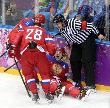 13 февраля 2014 года. Сочи. XXII зимние Олимпийские игры. Хоккей. Групповой этап. Первый гол сборной России на Олимпиаде