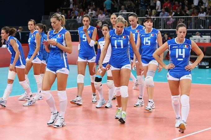 Сборная Италии после поражения в ¼ финала Олимпийских игр от команды Южной Кореи
