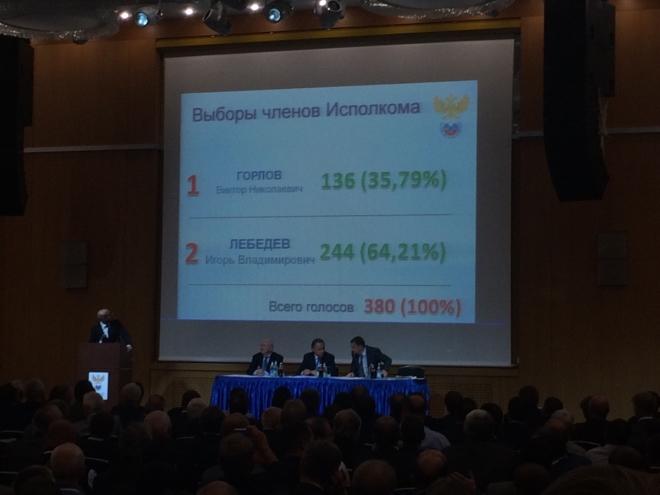 Результаты второго тура довыборов в исполком РФС