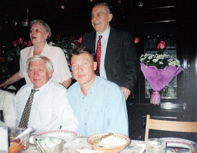 Блохин с родителями и братом