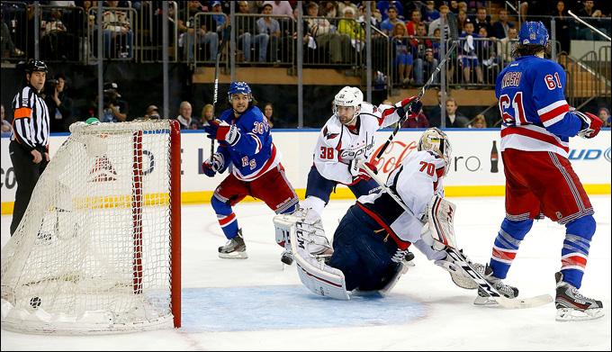 """12 мая 2013 года. Нью-Йорк. Плей-офф НХЛ. 1/8 финала. Матч № 6. """"Рейнджерс"""" — """"Вашингтон"""" — 1:0. Единственный гол, решивший исход матча"""