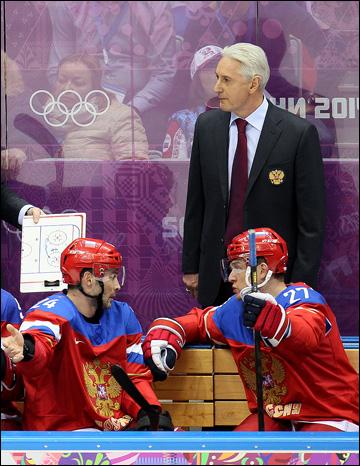 13 февраля 2014 года. Сочи. XXII зимние Олимпийские игры. Хоккей. Групповой этап. Зинэтула Билялетдинов после второй пропущенной шайбы