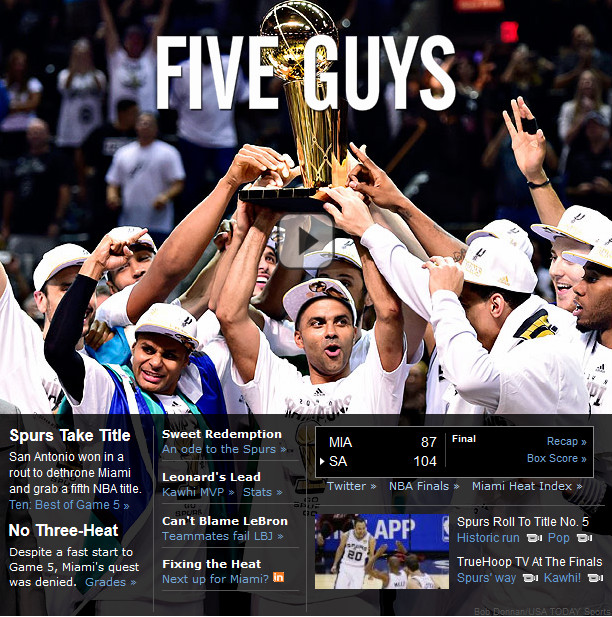 ESPN: «Пять парней»