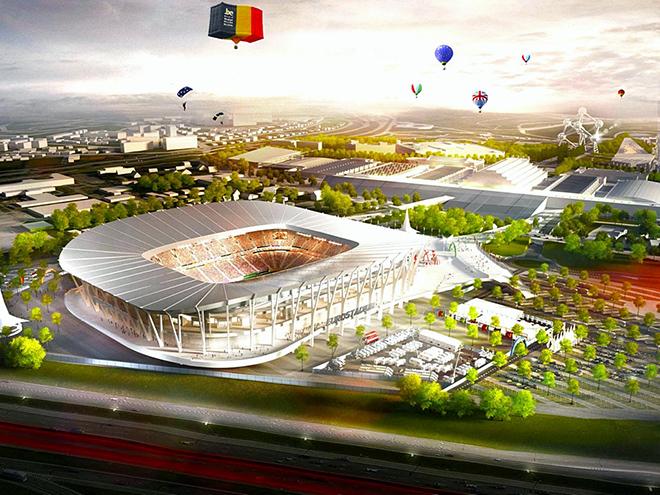 Планируемый новый национальный стадион (Брюссель, Бельгия) Вместимость: 50 000 зрителей. Заявка: на групповой раунд и финальную стадию.