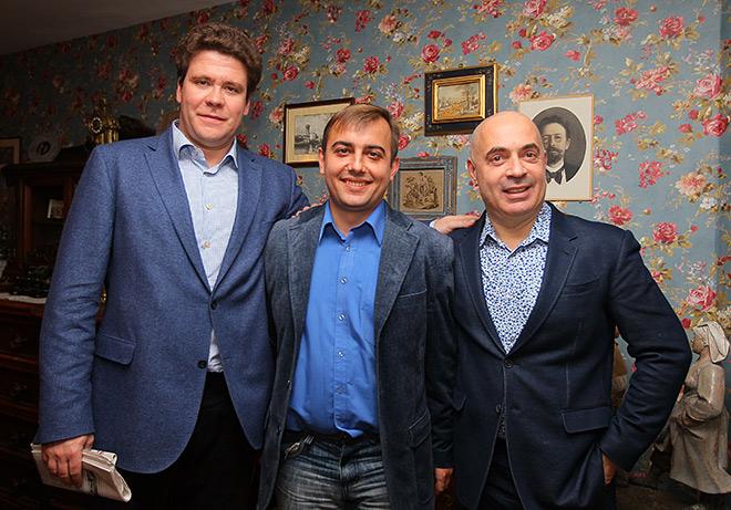 Денис Мацуев, Денис Целых и Михаил Грушевский