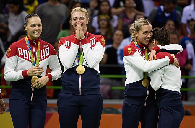 Женская сборная России по гандболу - олимпийский чемпион Рио