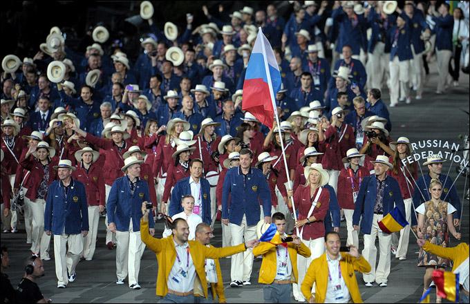 Церемония открытия Олимпиады. Российская делегация