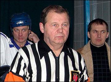 Юрий Карандин на матче ветеранов
