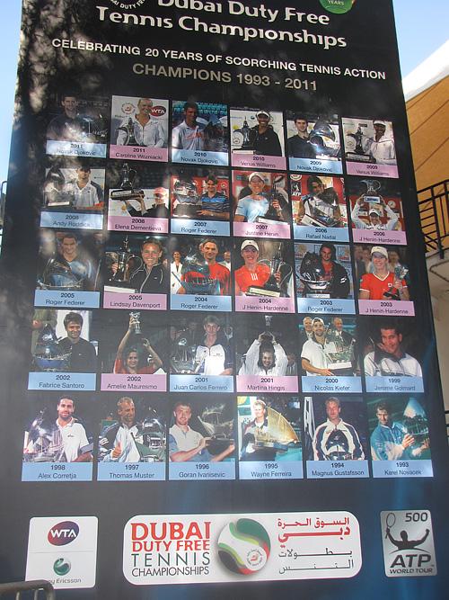 Все чемпионы Дубая в одиночном разряде