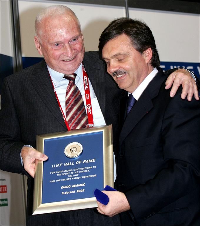 Гвидо Адамек и Рене Фазель. 2005 год