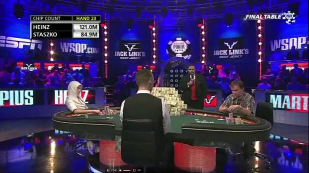 HeadsUp за финальным столом Main Event WSOP-2011