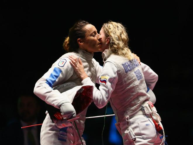 Инна Дериглазова с соперницей по финалу