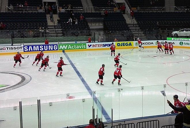 Предматчевая раскатка сборной Швейцарии