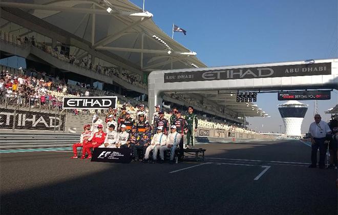 Все пилоты Гран-при Абу-Даби на стартовой решётке
