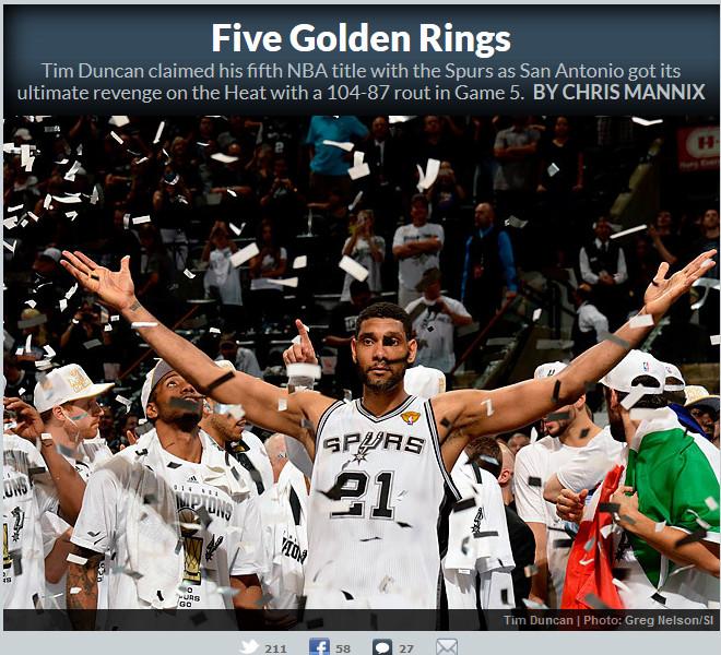 Sports Illustrated: «Пять золотых колец»
