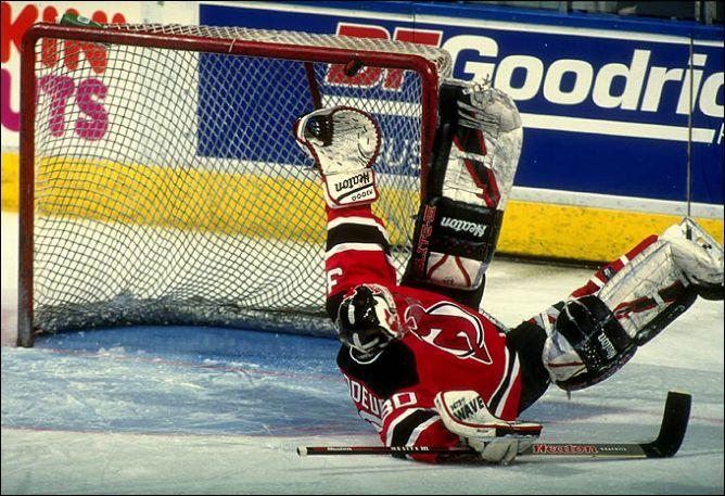 """Мартин Бродо в первом победном для себя и """"Нью-Джерси"""" сезоне-1994/95."""