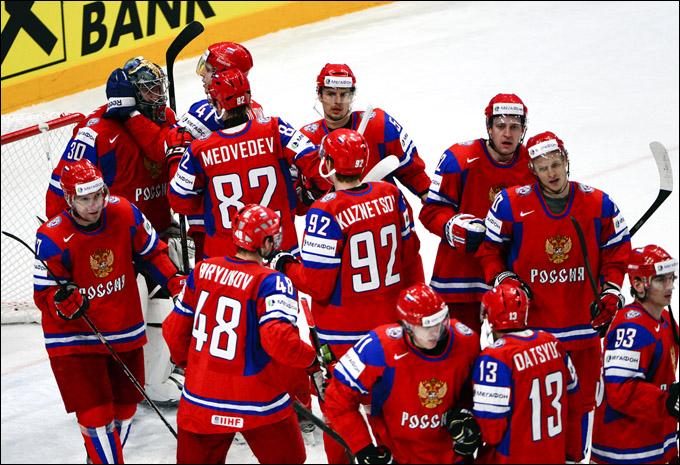 Сборная России после финальной сирены