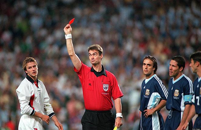 Аргентина — Англия — 2:2 (4:3 пен.). ЧМ-1998. 1/8 финала