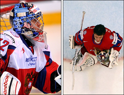 Сергей Бобровский и Семён Варламов