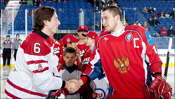 10 ноября 2011 года. Лэнгли. Кубок вызова. Группа B. Россия U-18 — Канада (Восточная) U-20 — 3:2