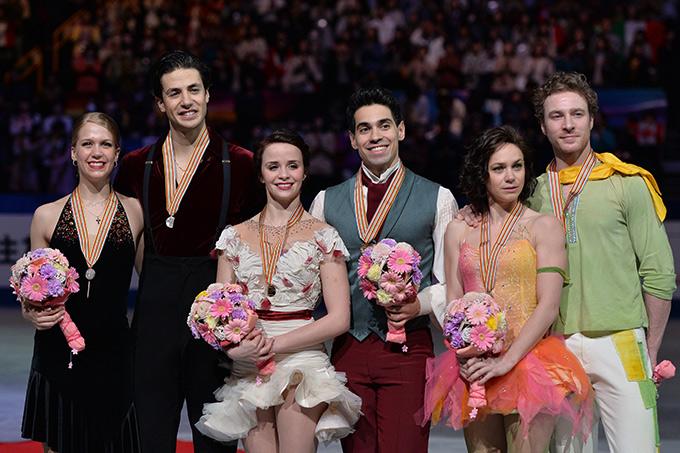 Призёры чемпионата мира-2014 в танцах на льду