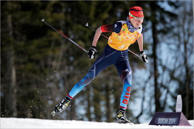 В женской лыжной эстафете остались без медалей
