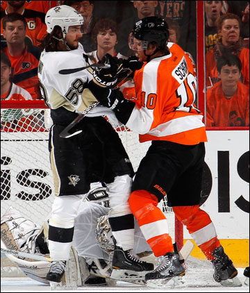 """22 апреля 2012 года. Филадельфия. Плей-офф НХЛ. 1/8 финала. """"Филадельфия Флайерз"""" — """"Питтсбург Пингвинз"""" — 5:1"""
