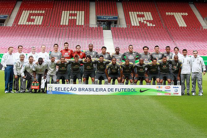 Сборная Бразилии перед матчем со сборной Германии