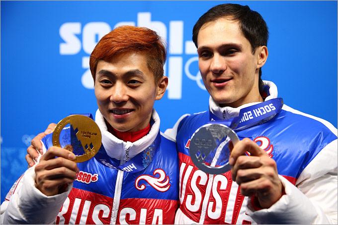 Виктор Ан и Владимир Григорьев — золото и серебро в шорт-треке