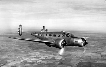 """Самолет """"Бичкрафт-18"""", на котором погибли чехословацкие хоккеисты"""