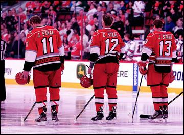 """Итоги сезона НХЛ. """"Каролина Харрикейнз"""". Джордан, Эрик и Джаред Стаал"""