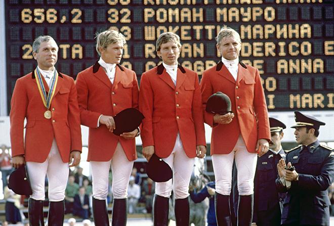 Сергей Рогожин в составе сборной СССР на Олимпиаде-80