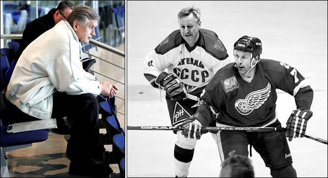 Владимир Лутченко сейчас в прекрасной форме и из хоккея не ушёл
