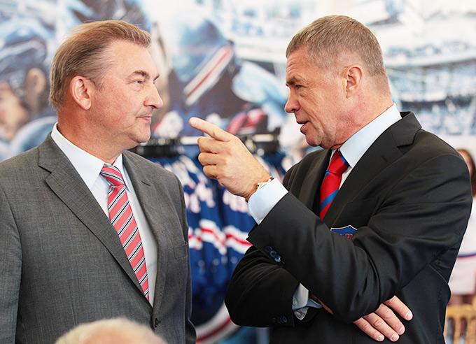 Владислав Третьяк и Александр Медведев