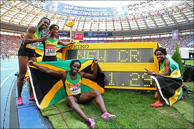 Сборная Ямайки выиграла эстафету 4 по 100 метров