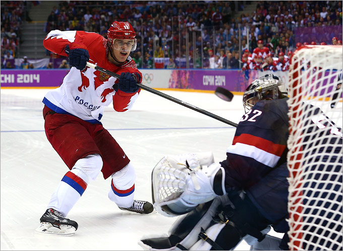 Россия проиграла США в хоккее по буллитам